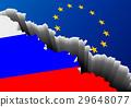 Flag Russia Europe Deep Crack 29648077
