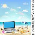 beach, laptop, computer 29648658