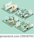 Set of 3D flat isometric illustrations of medical 29648765