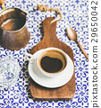 Black Turkish or Eastern style coffee on wooden 29650042