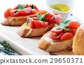 西红柿 番茄 面包片 29650371
