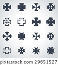 Vector black choppers crosses icon set 29651527