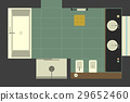 Bathroom in flat style, top view. 29652460