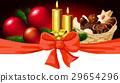 Christmas horizontal design with candle 29654296