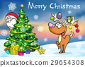 Merry Christmas greeting card, santa claus hidden 29654308