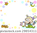 cool baby background with funny baby, toys  29654311