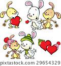 bunny, heart, vector 29654329