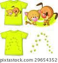 kid shirt with cute cat and dog printed - isolated 29654352