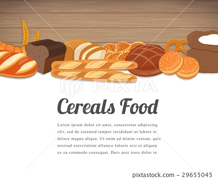 Cereals food card design. Food background with 29655045