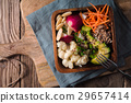 salad, buckwheat, vegetable 29657414