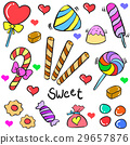 Candy object colorful of doodles 29657876
