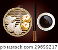 Vecter of Dim Sum in Bamboo Steamer 29659217
