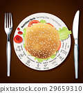 Vector of Nutrition facts in Hamburger 29659310