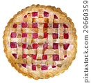 watercolor sketch of pie with berries isolated 29660359