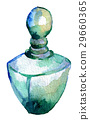 watercolor sketch of perfume bottle isolated 29660365
