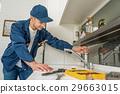 man, kitchen, repair 29663015