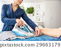 Attentive housewife works with modern iron 29663179