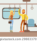 Couple Standing In The Metro Train Car, Part Of 29663370