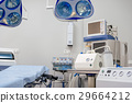 Medical equipments locating in operating room 29664212