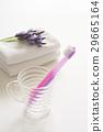 toothbrush, towel, towels 29665164