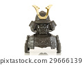 isolated of samurai armor 29666139