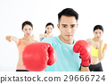 young group people in  boxing class 29666724