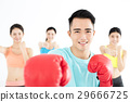 young group people in  boxing class 29666725