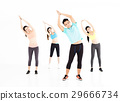 smiling young fit group stretching in gym 29666734