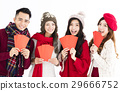 young group showing red envelope 29666752