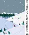 山峰 滑雪 冬天 29668226
