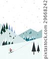 山峰 滑雪 冬天 29668242