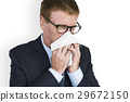 Business Man Sick Cry Tissue Paper 29672150