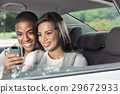 Teenagers with car 29672933