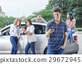 Teenagers with car 29672945