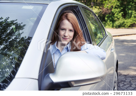 Teenager girl with car 29673133