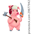 Woodworker pig with tools 29677942