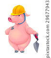Bricklayer pig with tool 29677943