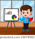businessman presentation cartoon 29678982