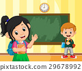 back to school with boy and girl 29678992