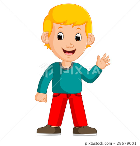 Cute boy cartoon posing 29679001