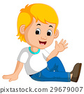cute boy sitting on the floor 29679007