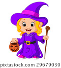 Cute young witch 29679030