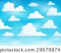 Clouds on sky theme 3 29679874
