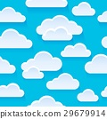 Stylized clouds seamless background 1 29679914