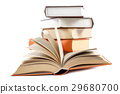 Stack of books on a white background. 29680700