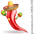 Mexican Red Chilli Pepper Character 29681340