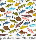 Fish seafood seamless pattern background design 29681960