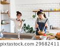 斯堪的納維亞女孩廚房食物婦女朋友 29682411