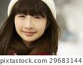 冬天女孩旅途雪風景駐地 29683144