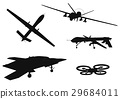 military drone silhouette 29684011